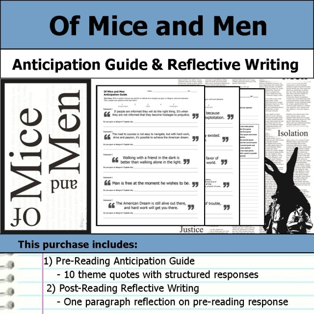 the lessons about life learned in of mice and men by john steinbeck A summary of themes in john steinbeck's of mice and men learn exactly what happened in this chapter, scene, or section of of mice and men and what it means perfect for acing essays, tests.