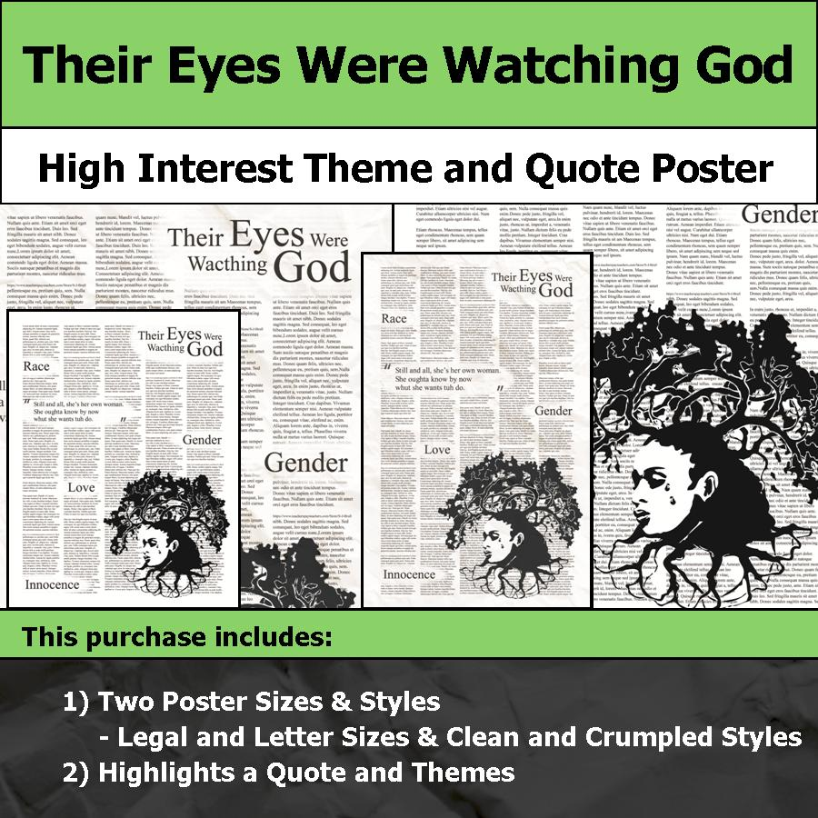 Their Eyes Were Watching God Visual Theme And Quote Poster For
